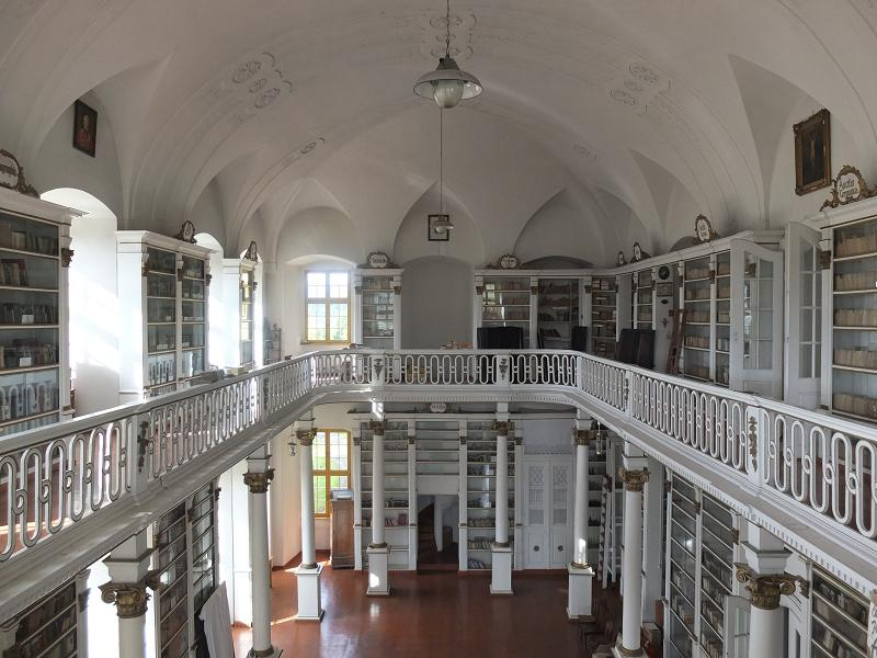 Grüssau (Krzeszów) monastery library — Photo: Jan Čižmář.